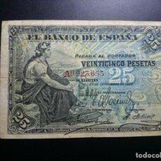 Billetes españoles: BILLETE ESPAÑA 25 PESETAS 1906 25 PTAS MUY CORRECTO *PAGO SOLO PAYPAL**. Lote 151550738