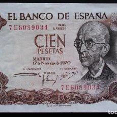 Billetes españoles: ESPAÑA 100 PESETAS 1970 MANUEL DE FALLA, SC-. Lote 151593218