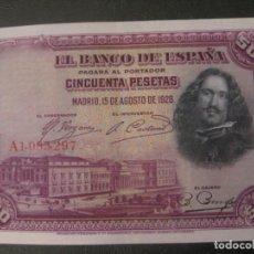Billetes españoles: 50 PESETAS 1920 SERIE A, NUMERACIÓN MONÁRQUICA, SIN CIRCULAR. Lote 152049074