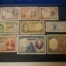 Billetes españoles: LOTE DE 9 BILLETES DEL 1928 AL 1948. Lote 152318890