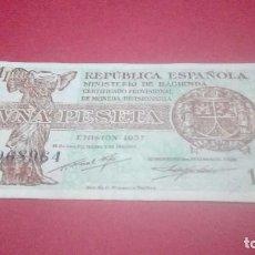 Billetes españoles: BILLETE 1 PESETA REPÚBLICA 1937. Lote 152498470
