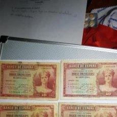 Billetes españoles: LOTE 5 BILLETES 10 PESETAS DE 1935 (SIN SERIE). Lote 152669570