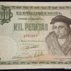 Billetes españoles: 1000 PESETAS 1946 VIVES. Lote 153497846