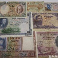 Billetes españoles: BILLETES VARIOS VALORES Y CONSERVACION. Lote 153509090