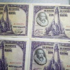 Billetes españoles: 8 BILLETES DE 100 PESETAS 1928 SERIE 'A'. Lote 153544330