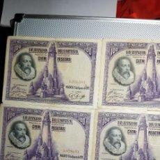 Billetes españoles: 18 BILLETES 100 PESETAS 1928 SIN SERIE. Lote 153545358