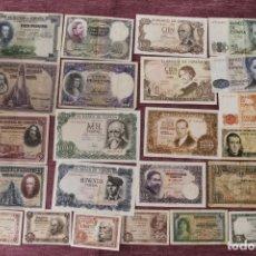 Billetes españoles: LOTE DE 23 BILLETES ESPAÑA ++++++++ CONSERVACIÓN BUENA ++++++++++++++. Lote 153548570