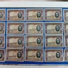 Billetes españoles: LOTE DE 20 BILLETES DE 50 PESETASDE LA REPUBLICA ESPAÑOLA , AÑO 1935. Lote 155005738