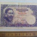 Billetes españoles: BILLETE DE 25, VEINTICINCO PESETAS ISAAC ALBENIZ. EMISION 22 DE JULIO DE 1954 SERIE M. Lote 155231386