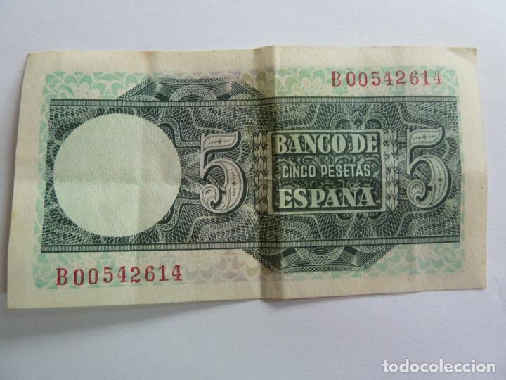 Billetes españoles: CINCO PESETAS. MARZO 1948 - Foto 2 - 155238202