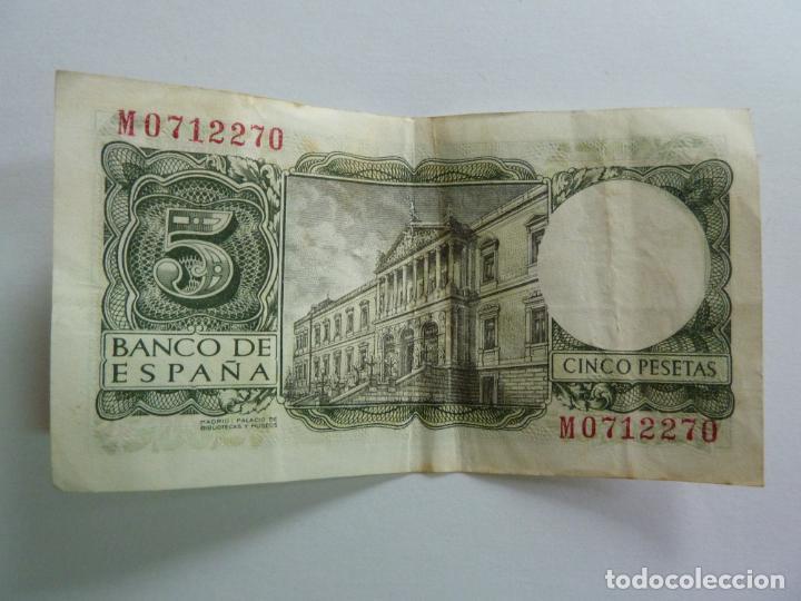 CINCO PESETAS. JULIO 1954 (Numismática - Notafilia - Billetes Españoles)