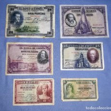 Billetes españoles: LOTE BILLETES ESPAÑOLES DIFERENTES AÑOS Y VALOR ORIGINALES VER FOTOS . Lote 155270826