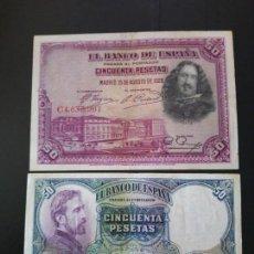 Billetes españoles: LOTE DE 2 BILLETES DE 50 PTAS . ... PRECIOSOS... .ES LA DE LAS FOTOS. Lote 155474378