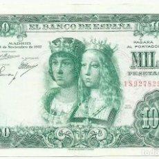 Billetes españoles: BILLETE DE 1000 PESETAS DE 29 DE NOVIEMBRE DE 1957, SERIE 1S. LOTE 1047. Lote 155668794