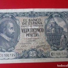 Billetes españoles: BILLETE 25 PESETAS DE 9/1/1940. Lote 155685082