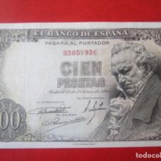 Billetes españoles: BILLETE 100 PESETAS DE 19/2/1946 SIN SERIE. Lote 155686954