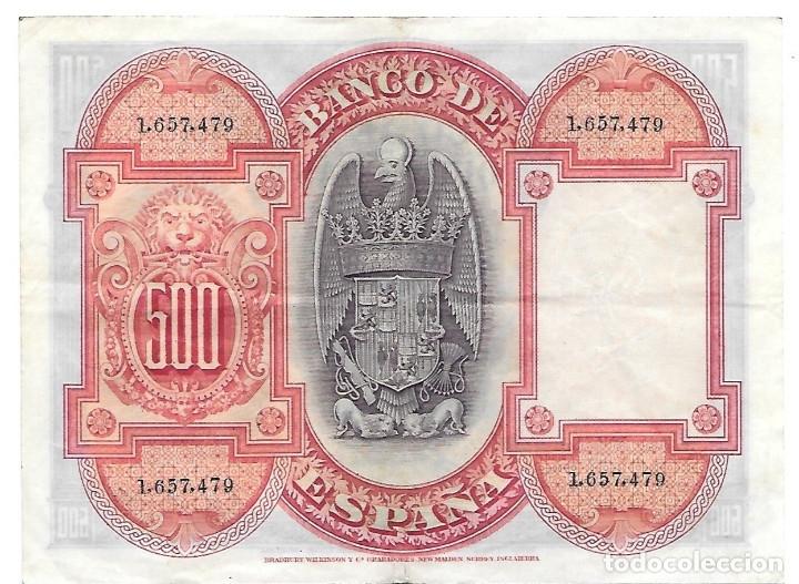 Billetes españoles: Billete de 500 pesetas del año 1927 - Foto 2 - 155726930