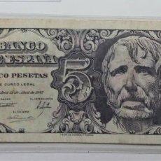 Billetes españoles: ESPAÑA /SPAIN /SPANIEN BANKNOTE BILLETE 5 PESETAS 1947 MBC+/MBC *PAGO SOLO PAYPAL. Lote 155790450