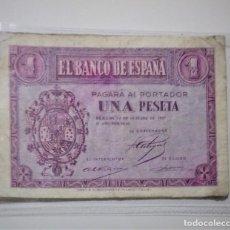 Billetes españoles: ESPAÑA /SPAIN /SPANIEN BANKNOTE BILLETE 1 PESETA 1937 12 OCTUBRE MBC *PAGO SOLO PAYPAL. Lote 155790586