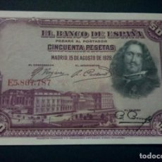 Billetes españoles: 50 PESETAS 1928 (SERIE E) SC. Lote 156641118