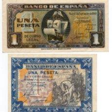 Billetes españoles: 1 PESETA JUNIO 1940 - SERIE C + 1 PESETA SEPTIEMBRE 1940 - SERIE D. Lote 156727898