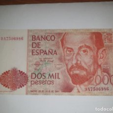 Billetes españoles: SERIE ESPECIAL 9A.2000 PTAS 22 JULIO 1980 J.R.GIMENEZ. Lote 157197534