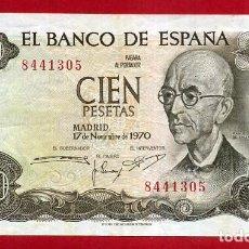 Billetes españoles: BILLETE 100 PESETAS 1970 , MBC , OJO SIN SERIE , ORIGINAL , T305. Lote 157730686
