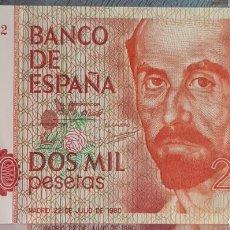Billetes españoles: BILLETE 2000 PTS SIN SERIE 22/07/80. CALIDAD PLANCHA.. Lote 158105128