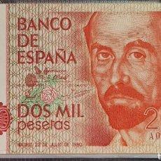 Billetes españoles: BILLETE 2000 PTS CON SERIE 22/07/80. CALIDAD PLANCHA.. Lote 158107670