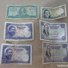 Billetes españoles: BILLETES ANTIGUOS.. Lote 158393422