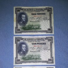 Billetes españoles: 3 BILLETES CORRELATIVOS DE 100 PESETAS AÑO 1925 SERIE D VER FOTOS Y DESCRIPCION. Lote 159734182