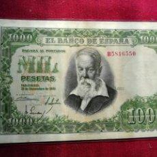 Billetes españoles: 1000 PESETAS DE 1951. SOROLLA. MUY BUEN ESTADO. Lote 159770838