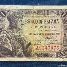 Billetes españoles: BILLETE 1 PESETA 1943. Lote 160090141