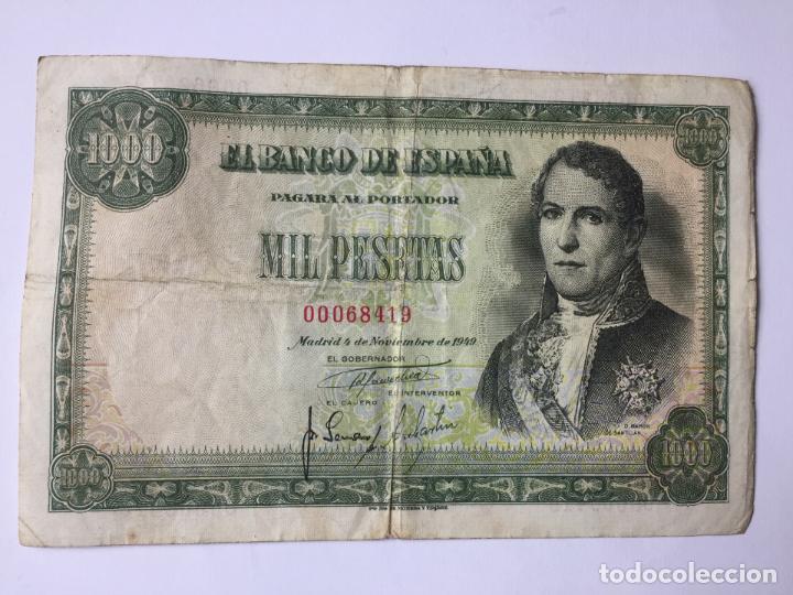 1 BILLETE DE 1000 PESETAS (1949) ¡COLECCIONISTA! ¡ORIGINAL! (Numismática - Notafilia - Billetes Españoles)