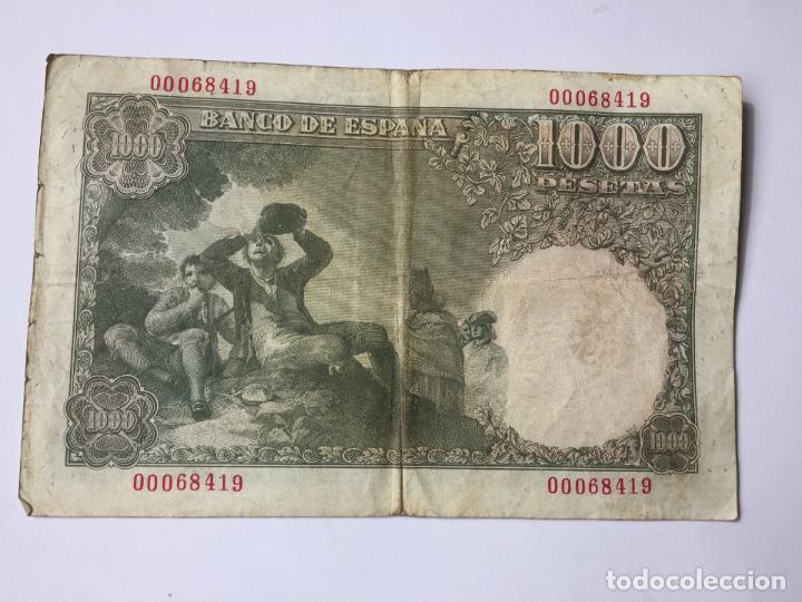 Billetes españoles: 1 BILLETE de 1000 pesetas (1949) ¡Coleccionista! ¡Original! - Foto 2 - 160263870