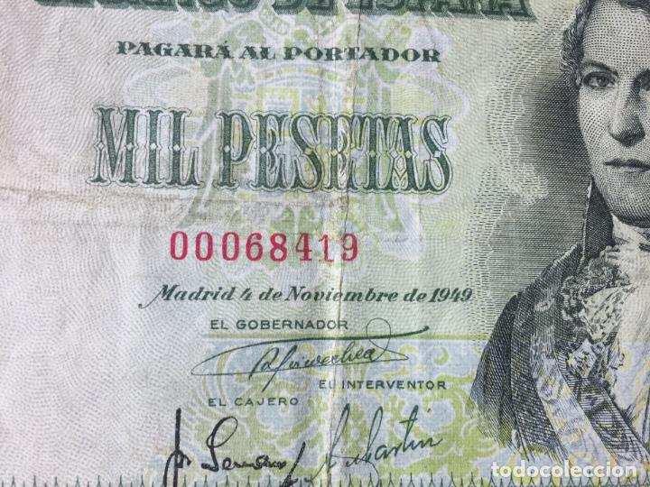Billetes españoles: 1 BILLETE de 1000 pesetas (1949) ¡Coleccionista! ¡Original! - Foto 3 - 160263870