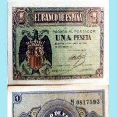 Billetes españoles: ESTADO ESPAÑOL, BURGOS 1 PESETA 30 DE ABRIL DE 1938, CON LETRA DE SERIE - M- SIN CIRCULAR. SC. Lote 160304266