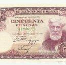 Billetes españoles: BILLETE DE 50 PESETAS, DE 31 DE DICIEMBRE DE 1951, SERIE A. LOTE 1055. Lote 160383502