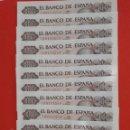 Billetes españoles: LOTE 10 BILLETES 100 PESETAS MANUEL DE FALLA CORRELATIVOS S.C LOS DE LA FOTO. Lote 160385086