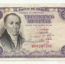 Billetes españoles: BILLETE DE 25 PESETAS DE 19 DE FEBRERO DE 1946, SERIE H. LOTE 1057. Lote 160385674