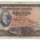 Billetes españoles: BILLETE DE 50 PESETAS DE 17 DE MAYO DE 1927 (SOBRECARGA REPUBLICA ESPAÑOLA). LOTE 1058. Lote 160386026