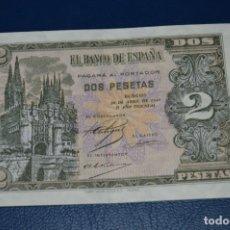 Billetes españoles: BILLETE DE 2 PESETAS - BURGOS 30 ABRIL 1938 - CATEDRAL DE BURGOS - MUY BUEN ESTADO, MIRA FOTOGRAFÍAS. Lote 160569310