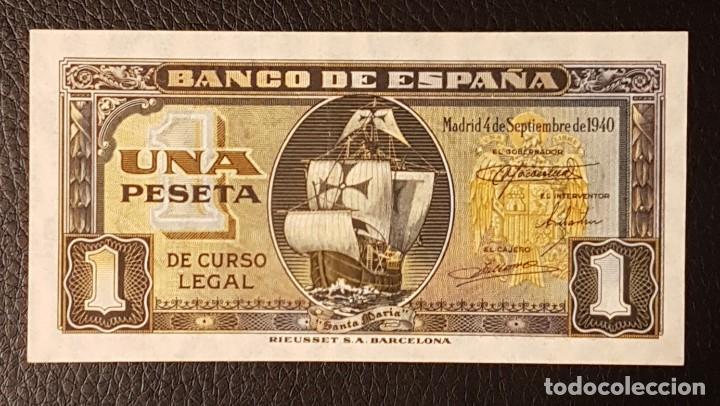 BILLETE 1 PESETA 1940 SANTA MARIA (Numismática - Notafilia - Billetes Españoles)