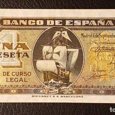 Billetes españoles: BILLETE 1 PESETA 1940 SANTA MARIA . Lote 160800630