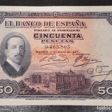 Billetes españoles: BILLETE 50 PESETAS 1927 SIN RESELLO ALFONSO XII. Lote 160843938