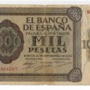Billetes españoles: 1000 PESETAS - BURGOS 1936 - SERIE B. Lote 160976470