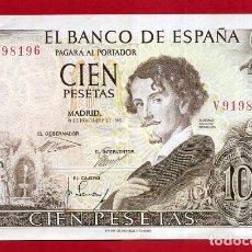 Billetes españoles: BILLETE 100 PESETAS 1965 , MBC++ , SERIE V , ORIGINAL , T196. Lote 161000210