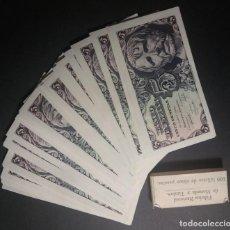 Billetes españoles: BANCO DE ESPAÑA 5 PESETAS 1947 SC SERIE D . ELEGIDOS DE TACO. PAREJA CORRELATIVA SENECA. Lote 161287162