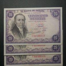 Billetes españoles: BANCO DE ESPAÑA 25 PESETAS 1946 SC 1 BILLETE DE TACO (ELEGIDOS). Lote 161337454