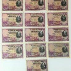 Billetes españoles: 13 BILLETES DE CINCUENTA PESETAS. ESPAÑA 1928 . Lote 162015862